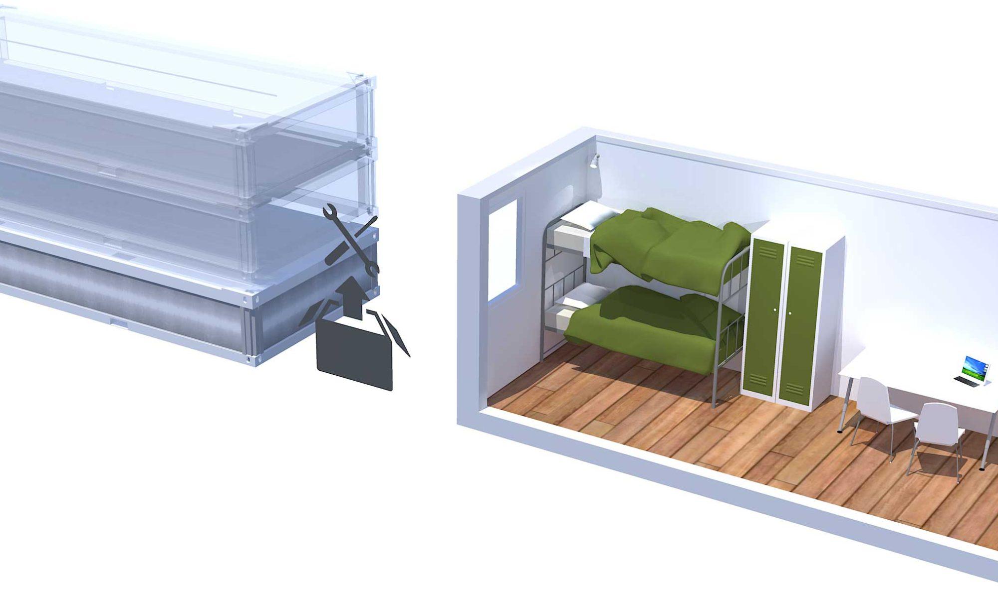 FP 15 flat pack modular home