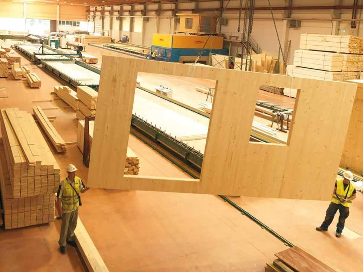 CLT modular home factory
